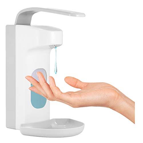 Dispensador de jabón manual FreeLeben para montaje en pared, dispensador de desinfectantes, bomba dosificadora de plástico para el hogar hospital hotel, Manual 1000 ml-b, 1000 ml