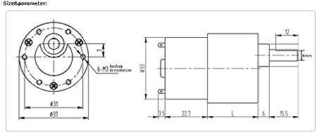 LF/&LQEW 1pc 37mm Diam/ètre bo/îte Excentrique Arbre Moteur /à Engrenages 12v 24v MOTOR/ÉDUCTEURS Serrure /électrique Autonatic Dustbin Moteurs /à soupapes Couleur : 960 RPM, Taille : DC 12V
