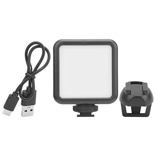 Luz de Relleno, lámpara de Video Regulable DC 3.7V 5W Recargable, plástico para transmisión en Vivo de Video en línea