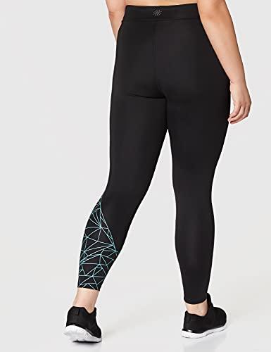 AURIQUE Leggings de Deporte Mujer, Negro (Black), Large