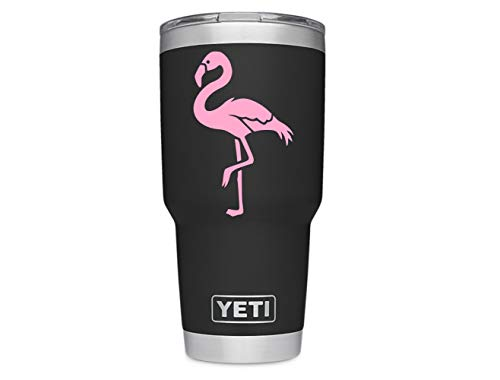 ViaVinyl Flamingo Decal. Perfect for Yeti and RTic Tumbler Mugs and Cups, iPhone and Android, MacBook and Laptops, iPads and Tablets and More! (Soft Pink)