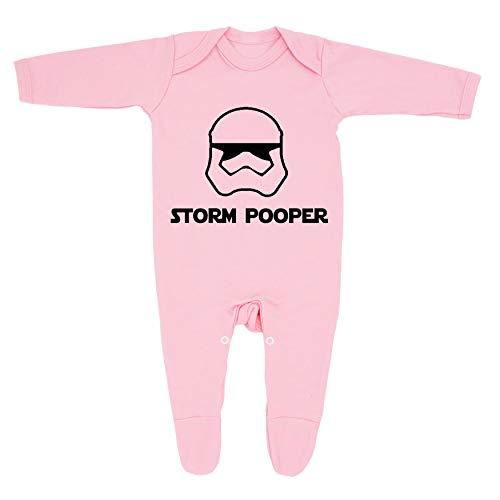 Pijama inspirado en Star Wars para bebé niño y niña, fabricado en el Reino Unido con 100% algodón peinado fino.