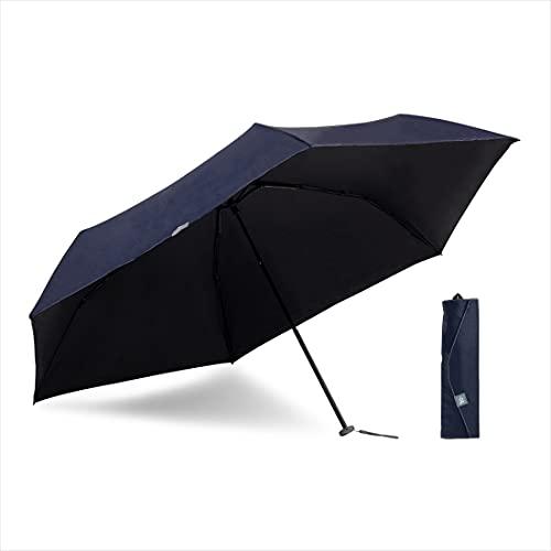 小川(Ogawa) 日傘 折りたたみ傘 メンズ レディース 大きい 60cm 6本骨 遮熱 遮光 UVカット 99%以上 軽量 197g -0& ゼロアンド ネイビー 手開き 安全カバー付き はっ水 収納しやすい共袋 52884