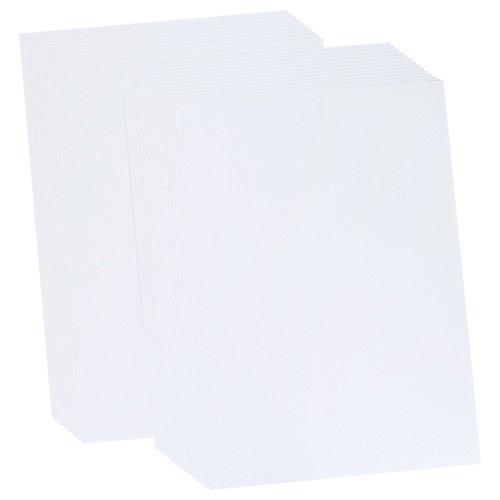Crafter's Companion CP-Snows Paquete de Tarjetas de Hoja de Perlas Centura A3 de 25 Piezas-Blancanieves/Indicio de Plata, Blanco, Una Talla