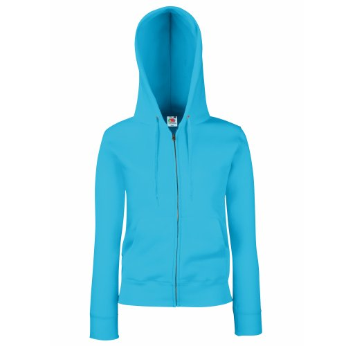 Fruit of the Loom Fruit of the Loom Premium Hooded Sweatjacke Lady-Fit - Farbe: Azure Blue - Größe: XL