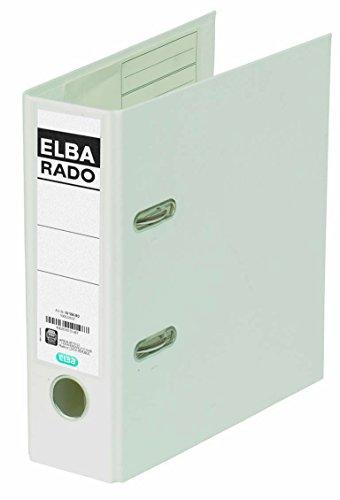 ELBA rado plast Ordner A5 hoch 7,5 cm breit weiß mit Einsteckrückenschild