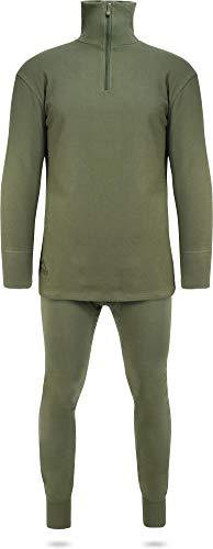 normani Winter Unterwäsche Thermo Plüschset aus Rollkragenpullover und Hose Farbe Oliv Größe M