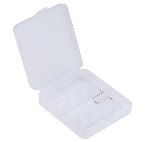 GmgodHard Portable Plastic Storage Box Case Holder for 4 x 18650 Battery (White)