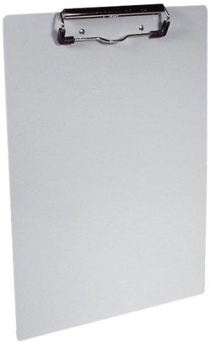 Läufer 21518 Aluminum Klemmbrett für DIN A4, extra starke und flache Klemme, stabile Schreibplatte, Hängeclip, abgerundete Ecken, silber