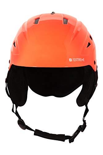 Mountain Warehouse Ascend Kids Ski Helmet - Fleece Lined Ear Pads, Goggle...