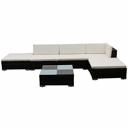 Nishore 15 STK. Rattan Lounge Set Gartenmöbel Loungemöbel Loungeset Loungegruppe - 2