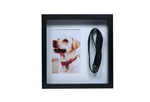 Dog Picture Frame Memorial – Leash Frame – Memory Picture Frame for Dogs to Mount or Hang – Thoughtful Gift of Sympathy for Grieving Dog Owner