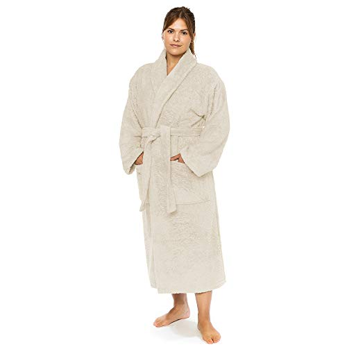 Classic Turkish Towels - Terry Cloth Plush Robes for Men and Women -...