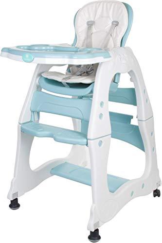 Hoge stoel baby kinderen multifunctionele 2-in-1 mintgroen