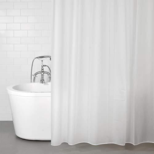 ANSIO Duschvorhang, 100prozent Eva, wasserdicht, schimmelresistent, 180 x 180 cm, Frostiges Weiß