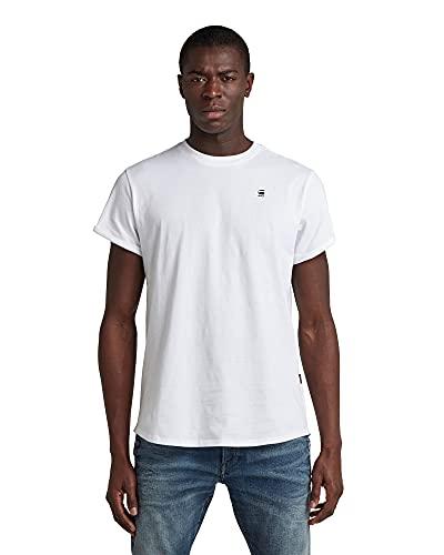 G-STAR RAW Herren Lash Straight Fit' T-Shirt, Weiß (White B353-110), L