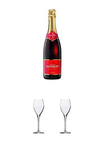Krimskoye ROT mild Krimsekt Ukraine 0,75 Liter + Sekt- und Champagnerglas Stölzle 1 Glas - 215/29 + Sekt- und Champagnerglas Stölzle 1 Glas - 215/29