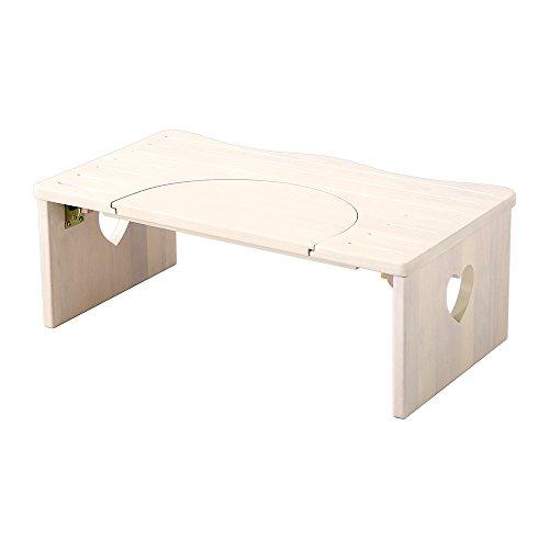 かわいい トイレ 子ども踏み台 ホワイトウォッシュ(木製・折りたたみ式・36.5cm)ハート柄で子供や女の子に人気
