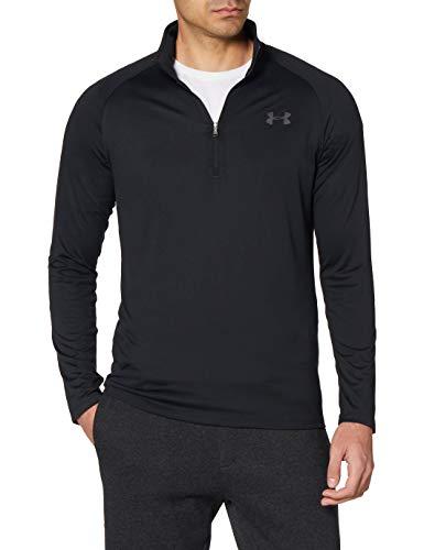 Under Armour Men's Tech 2.0 1/2 Zip-Up T-Shirt , Black (001)/Charcoal , X-Large
