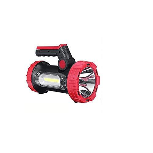 LKNJLL High Lumen Powerful Rechargeable Spotlight Flashlight LED Super Bright Searchlight 10000mah Hand Held Spot Search Lights Large Heavy Duty Waterproof Marine Boat Torch Portable Lantern