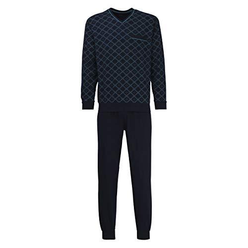 Bugatti Herren Pyjama blau Bedruckt 1er Pack 50