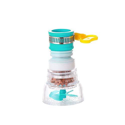 Aemiy - Filtro de arranque para grifo, a prueba de salpicaduras, filtro plegable de grifo, boquilla de filtro de agua, boquilla retráctil de agua para grifo de ducha, dispositivo de ahorro de agua, azul, Type B