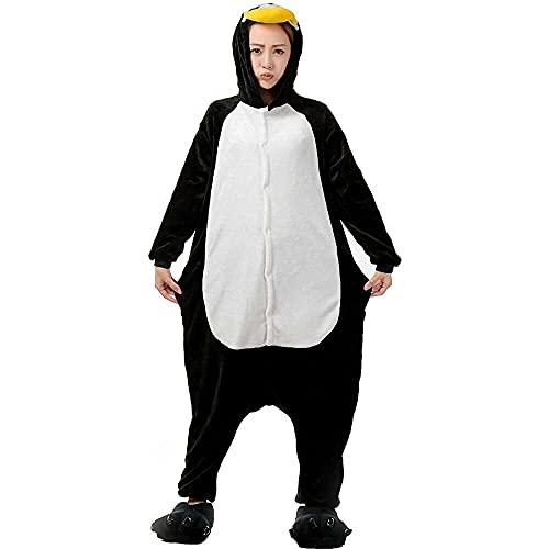 bingyu Nicetage Combinaison pour adulte Unisexe Animal Pyjama une pièce Cosplay Costume Halloween Noël Party Wear, 002-penguin, Bronze,