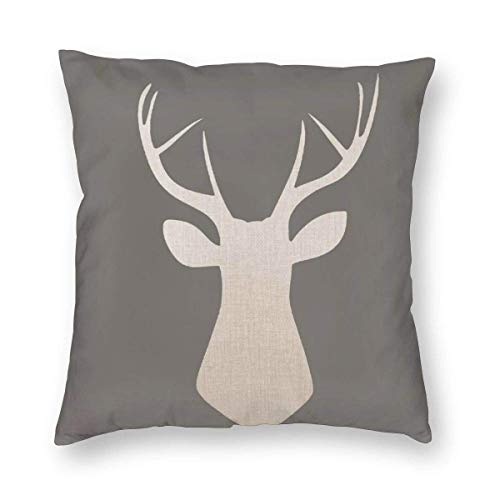 Moily Fayshow Throw Pillow Decorative Cushion Cover Pillowcase Brown Deer 40 X 40 Cm