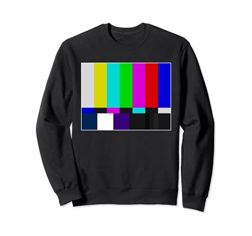 TV-Farbbalken Vintage Retro-Testmuster Bunter Regenbogen Sweatshirt