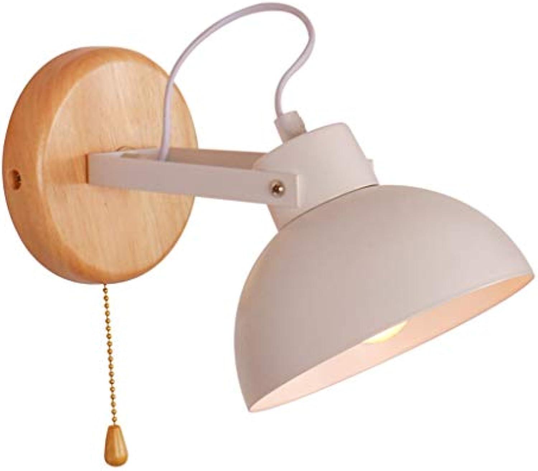 Mariisay Massivholz Wandlampe Mit Schalter Lesen Wandleuchte Kinder Drehen Wandleuchte Metall + Holz Wandleuchte Home Office (Farbe   Colour-Größe)