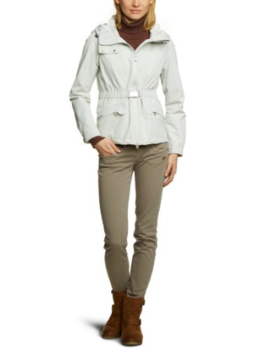 Geox Damen Jacke Regular Fit W3221BT1836F1136, Gr. 44 (I 50), Elfenbein (Light GREYF1136)