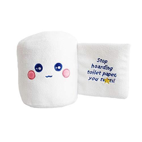 Nettes Plüschtier, Kawaii Kreatives Toilettenpapier Puppe Plüschtier Geschenke für Jungen Mädchen, Kinder Osterdekorationen 20cm weiß