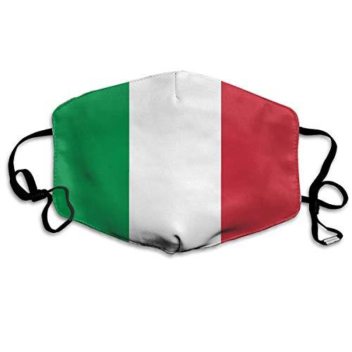 mundschutz Italien Flagge, halbe Gesichtsbedeckung, Winddichte Gesichtsdekorationen, Verstellbarer Ohrbügel, Mundhülle, staubdichter Mundschutz