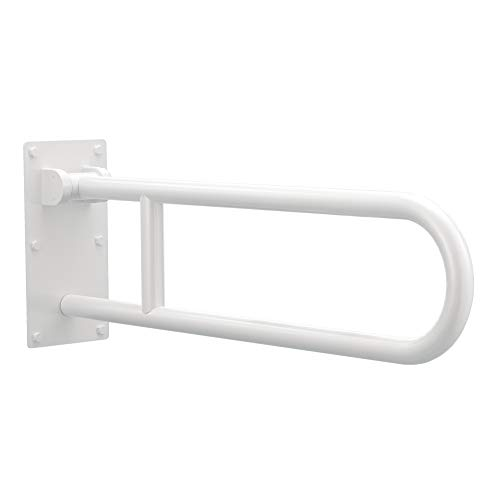Moen R8960FDW 30-Inch Flip-Up Screw-In Bath Safety Screw-In Bathroom Grab Bar, Glacier