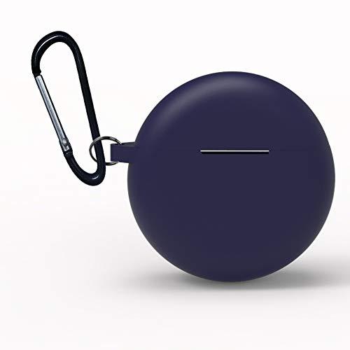 XuBa beschermhoes voor Huawei Freebuds 3 2019, houder voor koptelefoon, draadloos, siliconen, TWS Bluetooth koptelefoon, Eén maat, Blauw