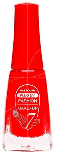 Fashion Make-Up FMU1400405 Vernis à Ongles Fluo N°405 Rouge 11 ml