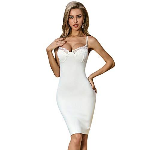 Vestidos de Mujer Fiesta Formal Paquete Falda de cadera Vestido de noche Falda lápiz Falda con cuello en V correa de encaje elegante vestido de vendaje Fiesta De Graduación Envuelta En Las Caderas