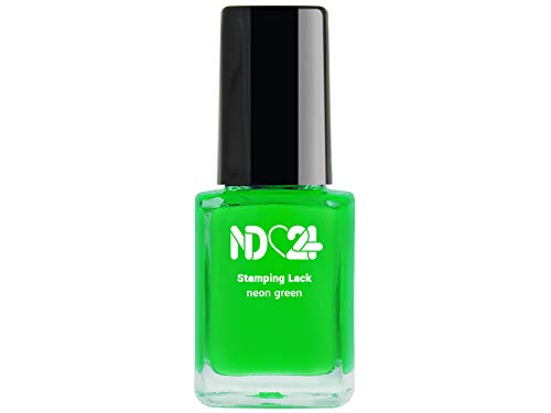 Stamping Nagellack Lack Neon Green - Grün - Hochpigmentiert - Made In Germany - 12ml
