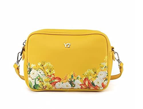 Borsa ynot Y not? BOT-005 fiori donna ragazza giallo