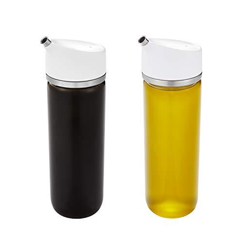 OXO 11289100 Good Grips Precision Pour Glass Oil & Vinegar Dispenser Set, 12 Ounce, Clear, 2 Piece Oil & Vinegar Set