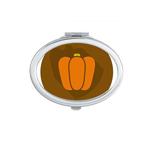 DIYthinker Turquie Thanksgiving Day Aquarelle Motif Ovale Maquillage Compact Miroir de Poche Portable Mignon Petit Miroirs Main Cadeau Multicolor