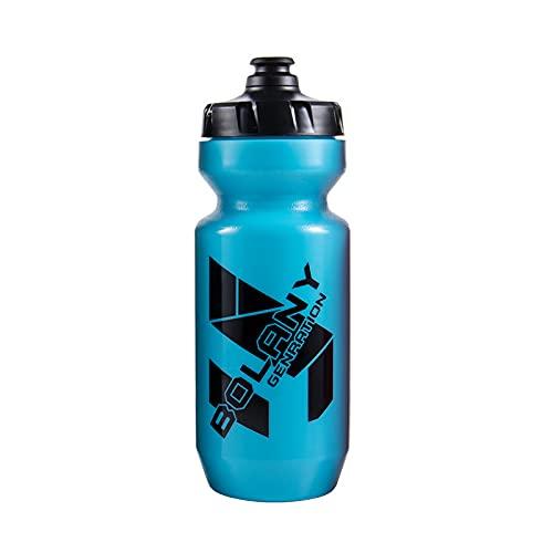 LIZHOUMIL 610ml bicicleta botella de agua bicicleta bebida contenedor para montar al aire libre Fitness Trainig azul