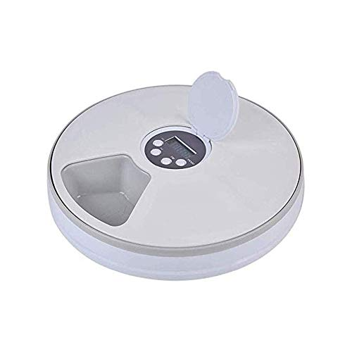 HANHANDIAN Automatic Pet Feeder-Wet and Dry Cat Food Dispenser with Programmable Timer,Portion Control,LCD Display-for Dogs Cats Small Animals