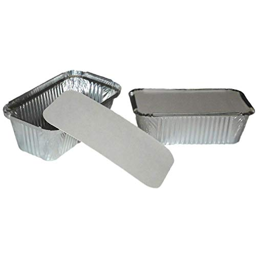 MARENT Brand 100 x LARGE ALUMINIUM FOIL FOOD CONTAINERS + LIDS Noa - MADE IN ENGLAND -Same Day Posting if purchased before 12 Noon Weekdays