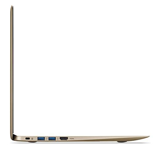 Acer Chromebook 14, Aluminum, 14-inch Full HD, Intel Celeron N3160, 4GB LPDDR3, 32GB, Chrome, Gold, CB3-431-C0AK