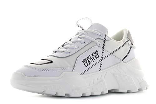 VERSACE JEANS COUTURE EOVVBSC1 Sneaker Femmes Schwarz Sneaker hoch, Weiß - Bianco - Größe: 36 EU