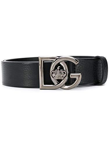 Luxury Fashion | Dolce E Gabbana Heren BC4376AV48080999 Zwart Leer Riemen | Lente-zomer 20
