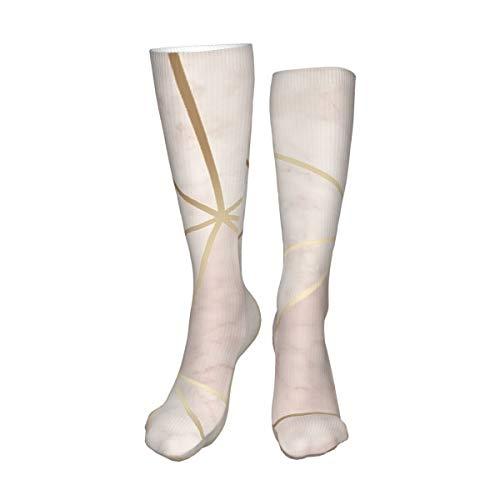 Decams Unisex Hohe Oberschenkel-Socken, Zara schimmernd, metallisch, weich, rosa, goldfarben, lange Socken, hohe Stiefel, Kniestrümpfe, Beinwärmer, Sportstrumpf