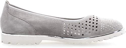 Gabor Damenschuhe 83.102.19 Damen Ballerinas, Pumps, Sommerschuhe Grau (Stone (Silber)), UK 5