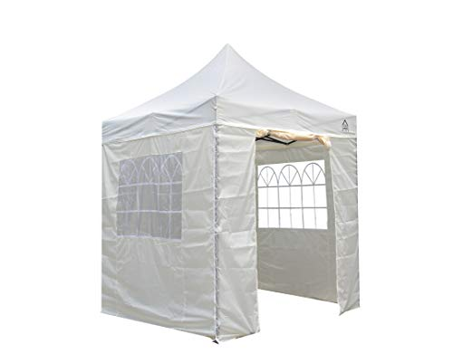 All Seasons Gazebos 2.5 x 2.5m Heavy Duty, Fully Waterproof Pop up Gazebo With 4 Side Walls (Cream)